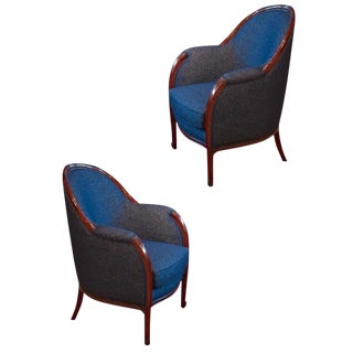 Paul Follot Pair of Club Chairs