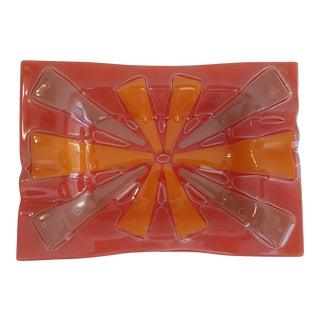 Higgins Art Glass Sunburst Ashtray