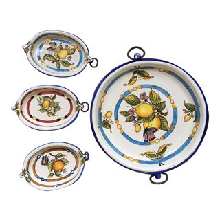 Hand-Painted Italian Citrus Serveware - Set of 4