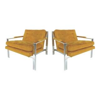 Mid-Century Modern Chrome Chairs by Cy Mann-A Pair