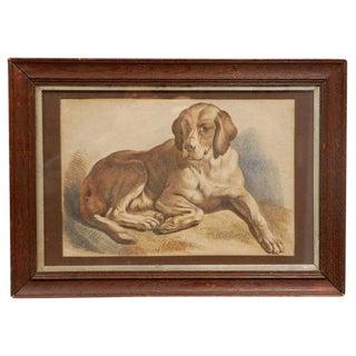 Colored Dog Print c. 1900