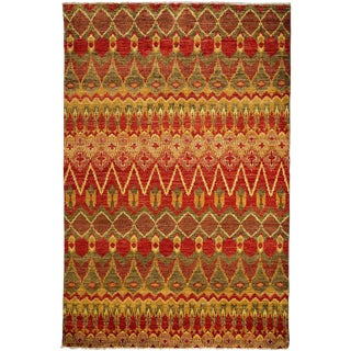 "Ikat, Hand Knotted Area Rug - 6' 1"" x 9' 0"""