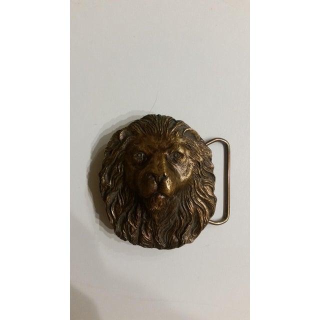 Vintage Lion's Head Belt Buckle - Image 3 of 4