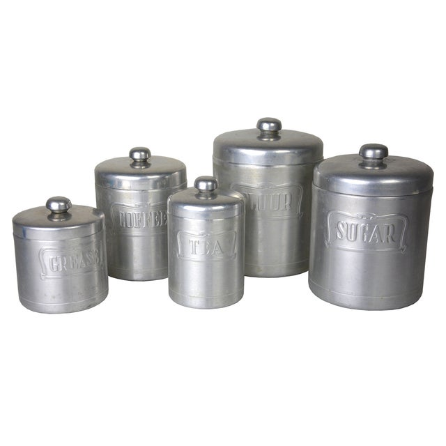Vintage Italian Silver Canisters - Set of 5 - Image 1 of 3