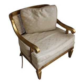 Vintage French Provincial Gold Gilt Accent Chair