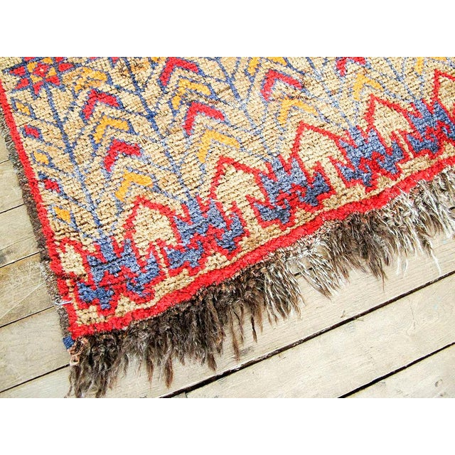 Vintage Brown Persian Tribal Rug - 2′8″ × 3′5″ - Image 5 of 6