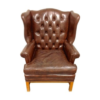 Quaker Wingback Tufted Chair