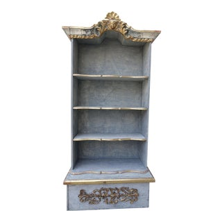 Italian Painted & Parcel 22K Gold Leaf Bookshelf