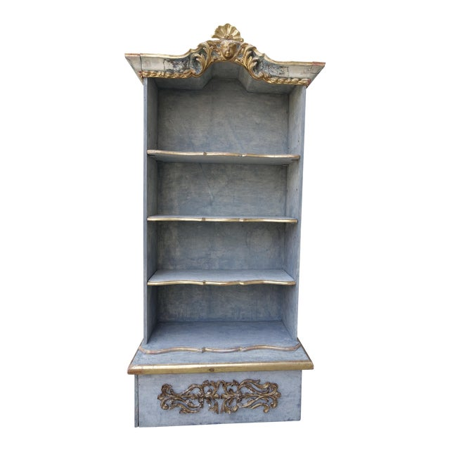 Image of Italian Painted & Parcel 22K Gold Leaf Bookshelf