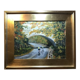 """Racing Round the Bend"" Oil Painting"