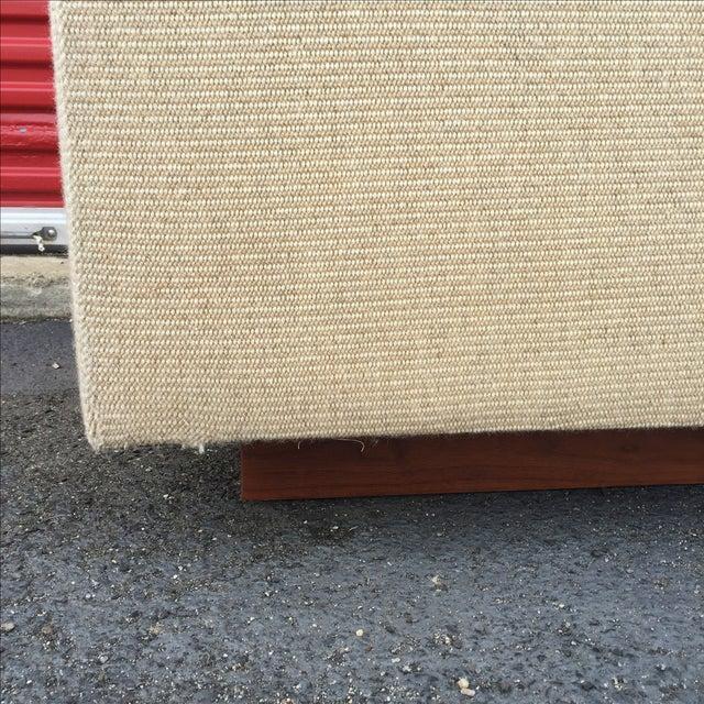 Mid Century Cream Sofa on Wood by Gunlocke Company - Image 8 of 10