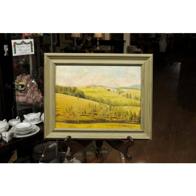 Provençal Pastoral Oil Painting - Image 2 of 7
