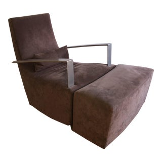 Neo Rocker Armchair With Ottoman - A Pair