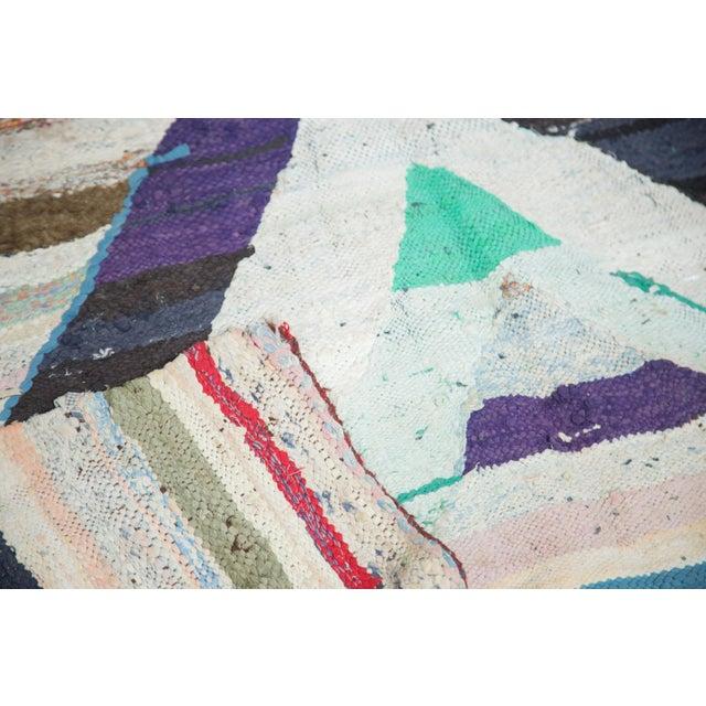 "Vintage Rag Rug Carpet - 5'1"" X 8'"