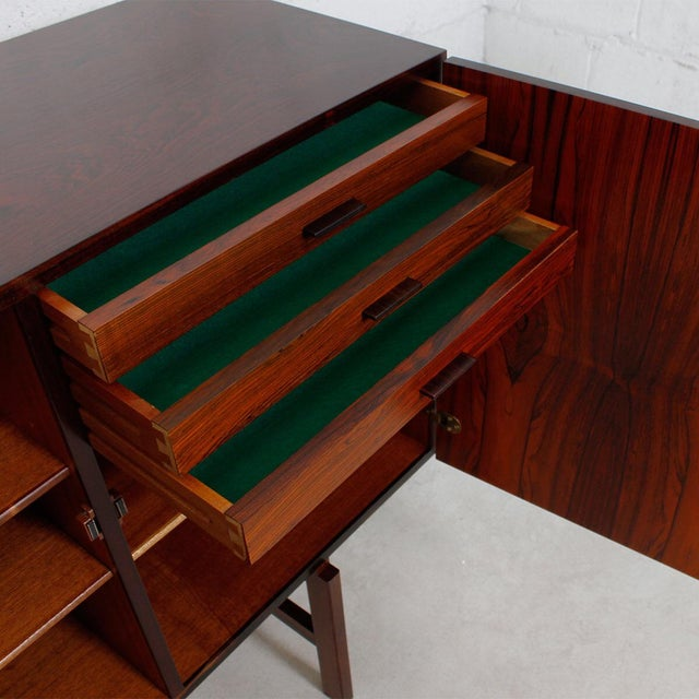 Ib Kofod-Larsen Danish Modern Rosewood Highboard - Image 7 of 10