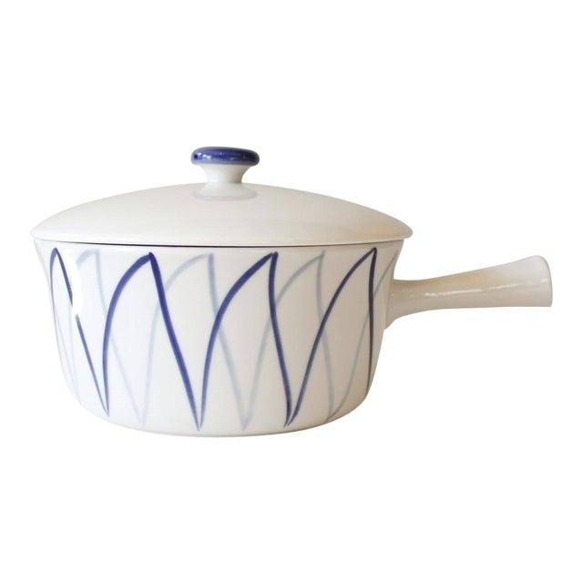 Lyngby Denmark Harlekin Ceramic Sauce Pan Or Casserole