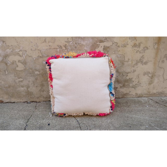Moroccan Floor Pillows: Moroccan Pink & Blue Floor Pillow