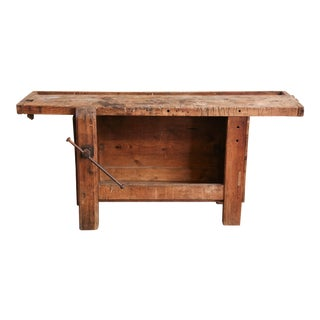 Closed Front Work Table from France, circa 1920