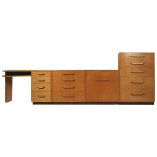 'Flexible Home Arrangement' Modular Birch Cabinet System by Eliel Saarinen