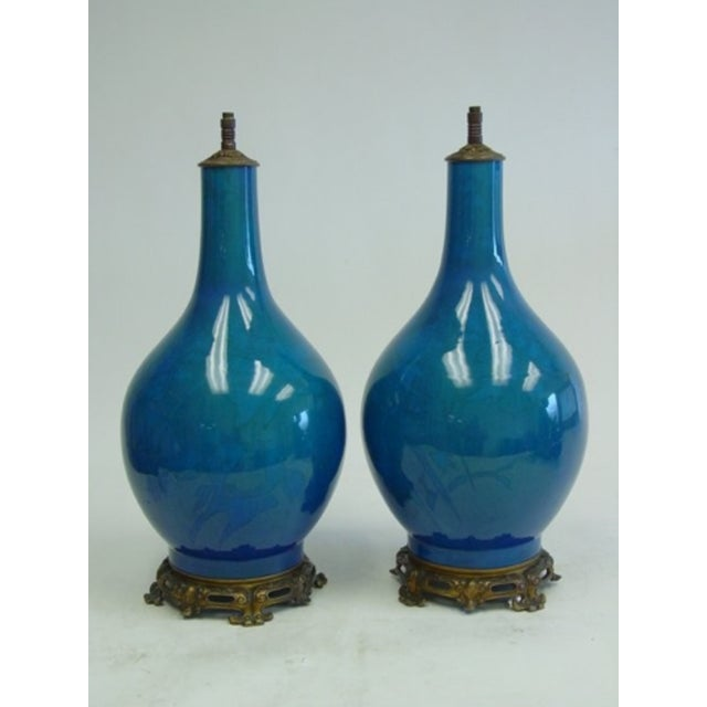 Image of 19th Century Chinese Vase Lamps - Pair