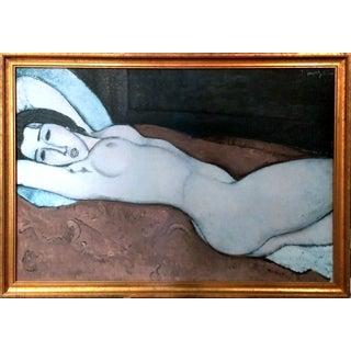 "Modigliani ""Reclining Nude"" Textured Print"