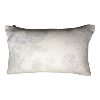 "Brunschwig Et Fils Pale Grey & Ivory Pillow Case - 24"" x 16"""