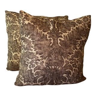 Ralph Lauren Linen Batik Pillows - Pair