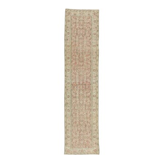 Vintage Turkish Oushak Runner Rug - 2′5″ × 10′4″