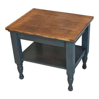 Rustic Farmhouse Oak Side Table