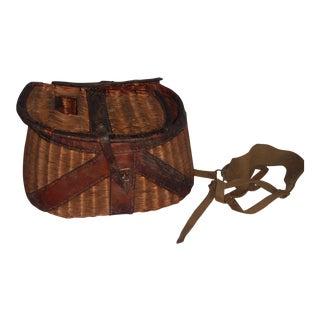 Vintage Wicker Fishing Creel Basket