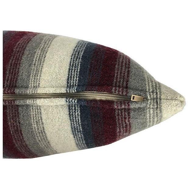 Repurposed Wool Blanket Lumbar Pillows - A Pair - Image 5 of 6