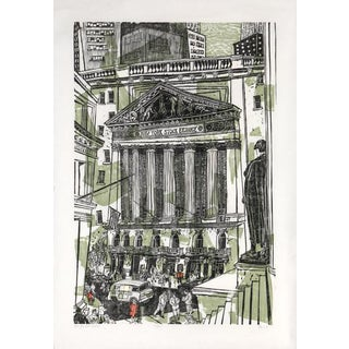 "1968 Ted Davies ""New York Stock Exchange"" Print"