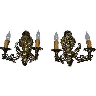 Hindu Filigree 2-Arm Sconces - Pair