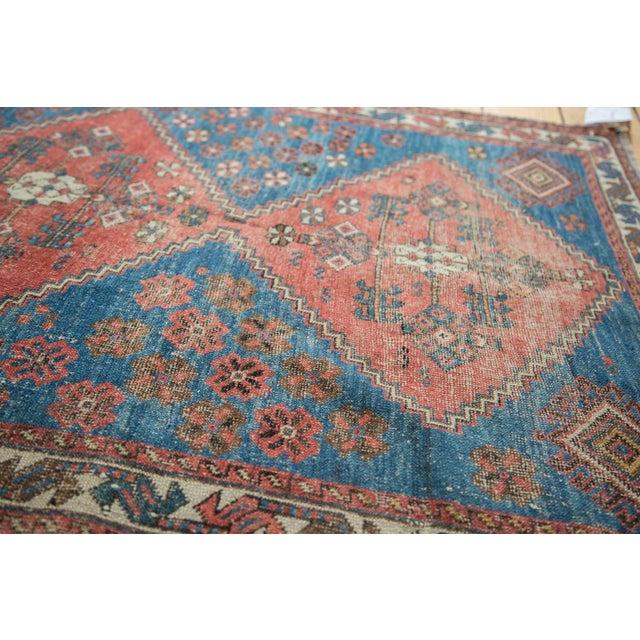"Distressed Antique Persian Square Rug - 3'3""x3'10"" - Image 6 of 7"