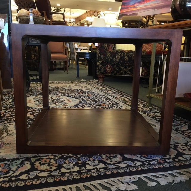 Custom Mirror Topped Side Table - Image 3 of 9