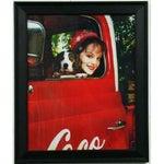 Image of Framed Coca Cola Girl & Dog Poster Print