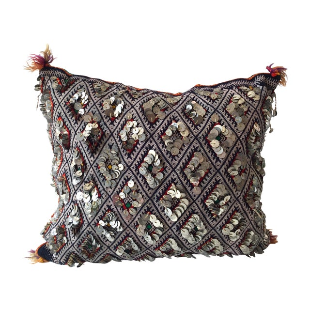 Moroccan Dhurrie Throw Pillow - Image 1 of 6
