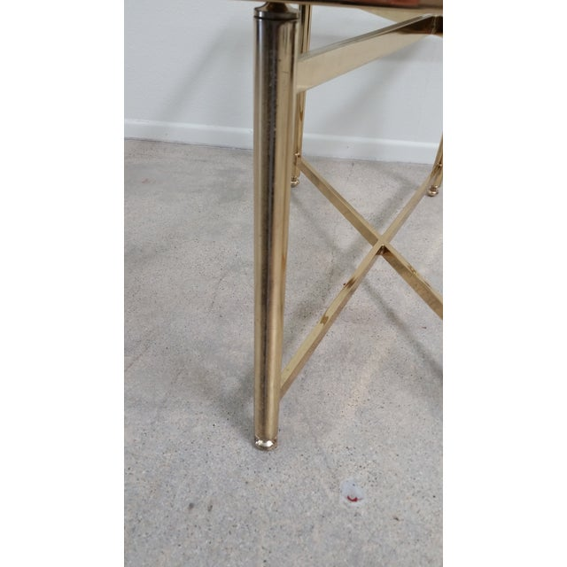 Gold Hollywood Regency Style Tray Table - Image 4 of 7