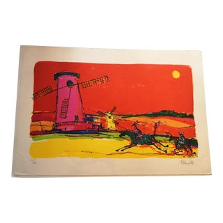 "Alvin Carl Hollingsworth Limited Edition ""Don Quijote 1"" Signed Lithograph"
