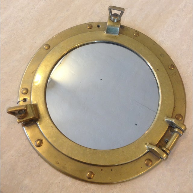 Decorative Brass Porthole Mirror - Image 2 of 6
