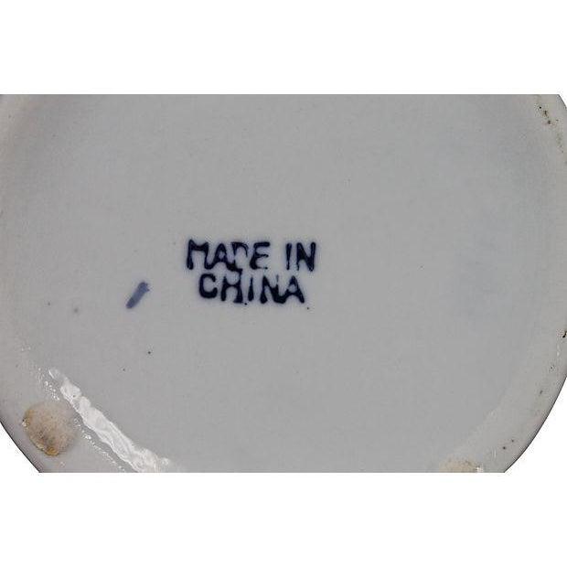 Blue & White Pierced Chinois Vase - Image 6 of 6