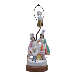 Figural Staffordshire Ceramic Lamp
