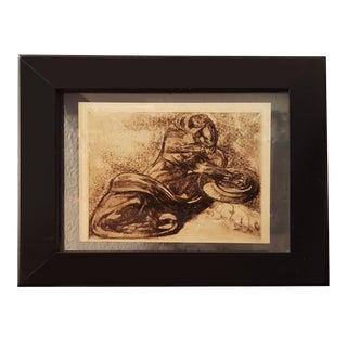 "Vintage Panther and Snake Sketch from a Book ""Peinture & dessins de Paul Jouve"""