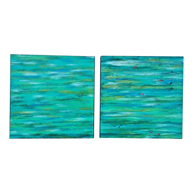 Contemporary Abstract Paintings - A Pair - Image 1 of 6