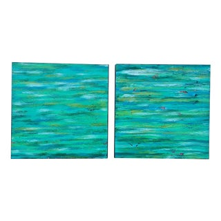 Contemporary Abstract Paintings - A Pair