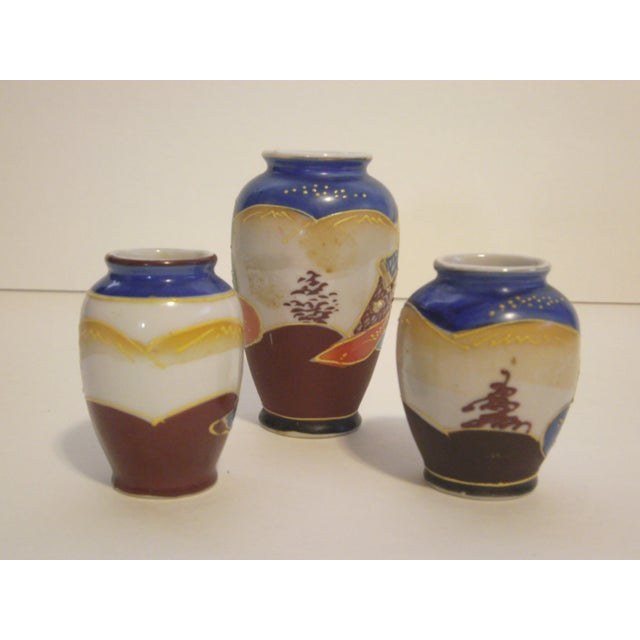Image of Miniature Satsuma Vases - Set of 8
