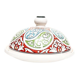 Large Serving Moroccan Ceramic Tajine - Hand Painted | One-of-a-Kind
