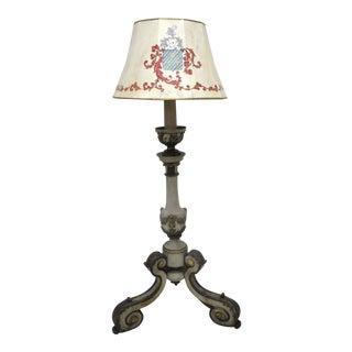 Mid-19th Century Italian Carved & Painted Floor Lamp