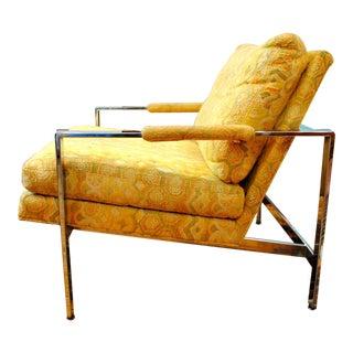 Mid-Century Modern Milo Baughman Chrome Lounge Chair