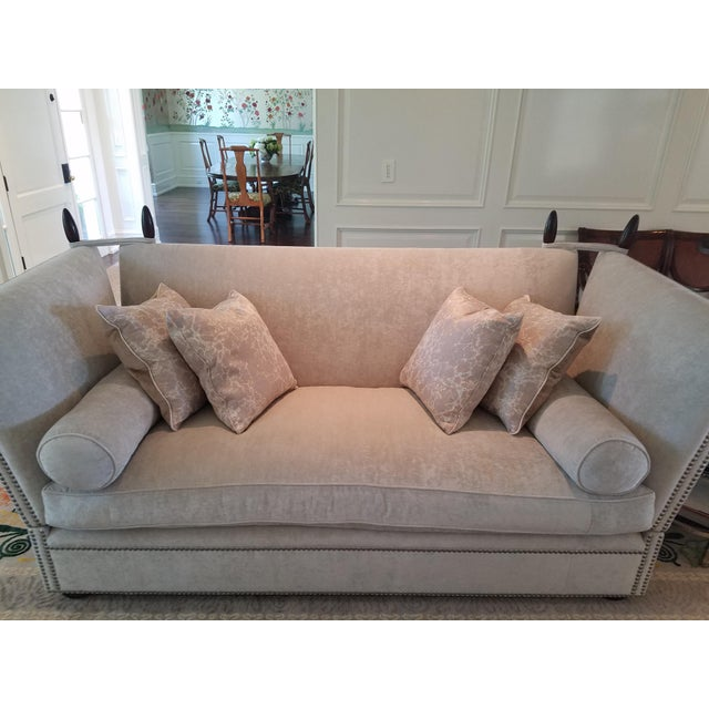 George Smith Light Silver Grey Sofa - Image 9 of 9